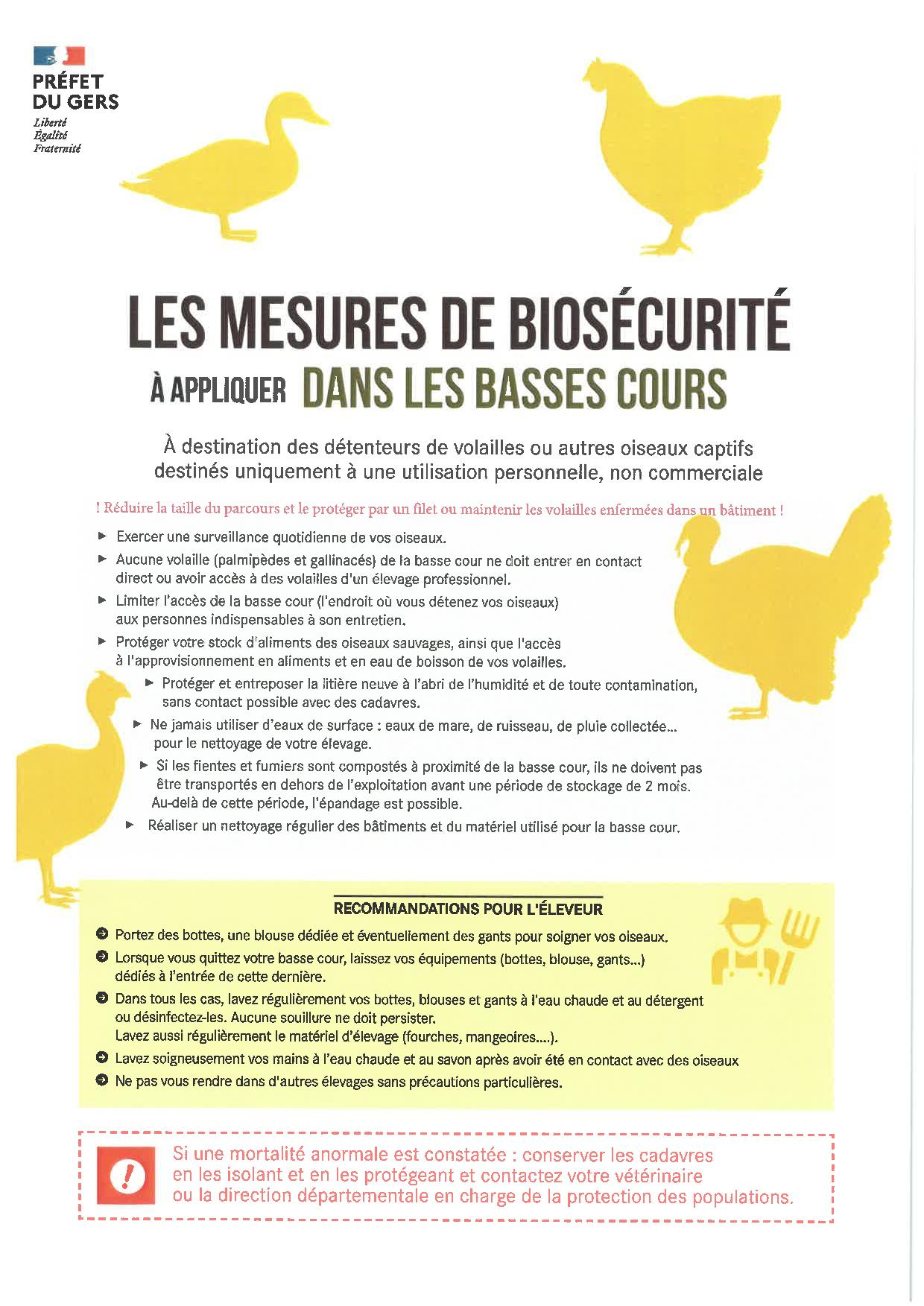 MESURES DE BIO-SECURITE